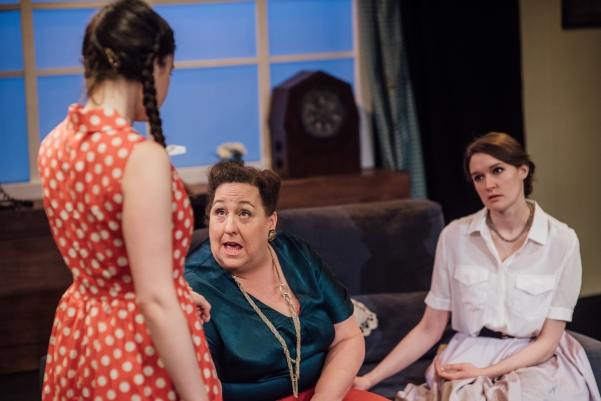 L-R Rebecca Rayne as Rhoda, Jessica Hawksley as Monica and Beth Eyre as Christine © David Monteith-Hodge
