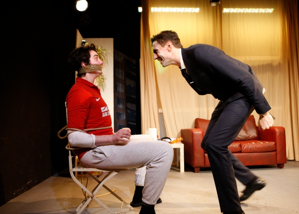 The Monkey - Theatre 503, George Whitehead and Morgan Watkins, photos by Simon Annand 2